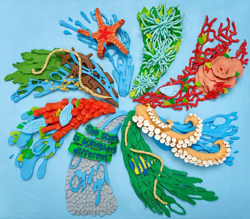 Продукты из пластилина от Александры Брюэль
