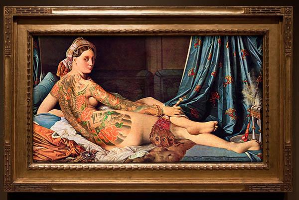 Как бы выглядели персонажи известных картин с татуировками