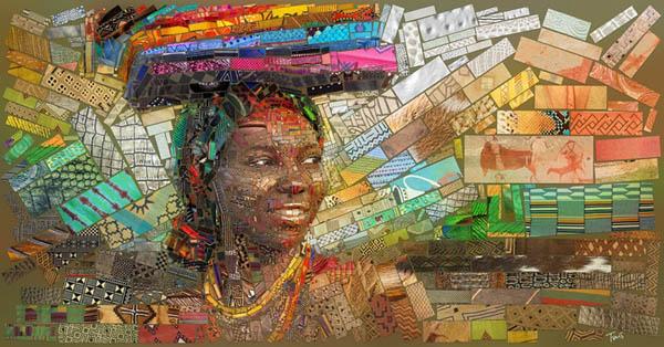 Воплощение африканской культуры на великолепных мозаичных фресках