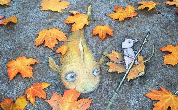 Забавные уличные иллюстрации от Дэвида Зинна