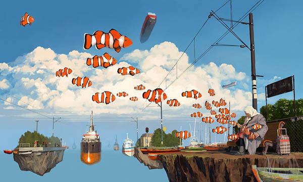Сюрреалистические пейзажи от Алексея Андреева