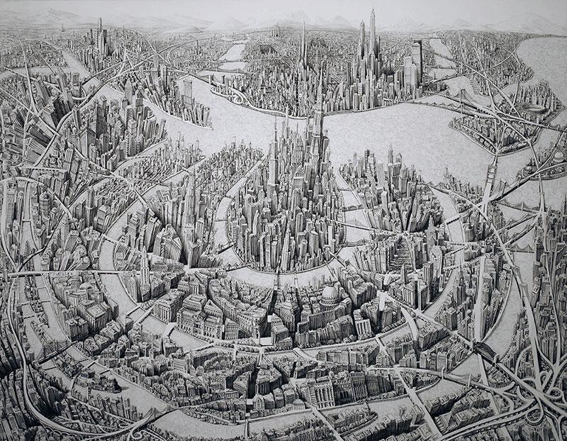 Городские пейзажи от Бенджамина Сака