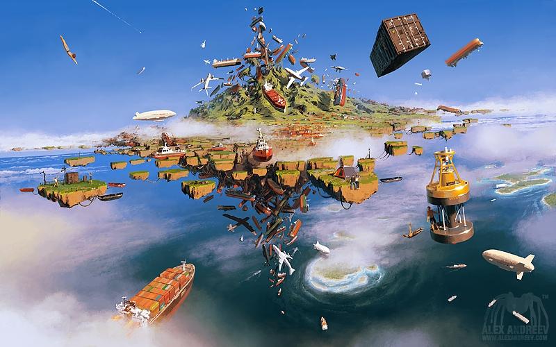 Сюрреалистические пейзажи от Алексея Андреева.
