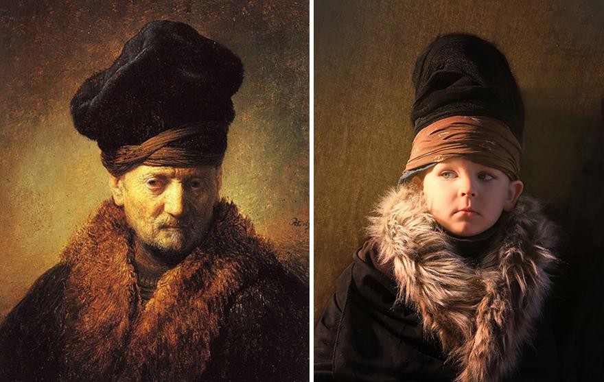Рембрандт Харменс ван Рейн - «Бюст старика в меховой шапке»