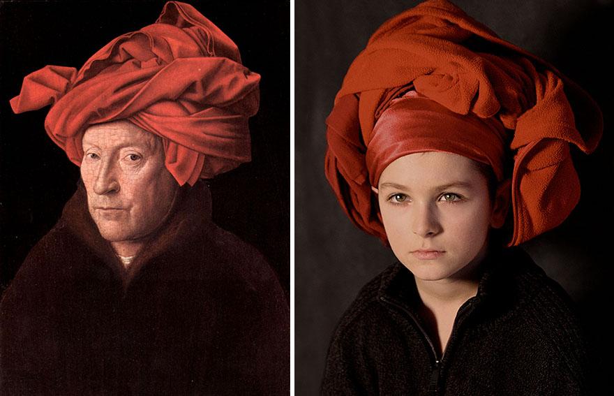 Ян ван Эйк - «Портрет человека в красном тюрбане»,1433