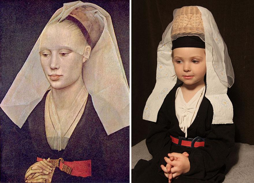 Рогир ван дер Вейден -«Портрет дамы», 1460