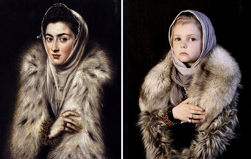 Эль Греко - «Дама в мехах», 1580
