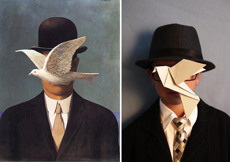 Рене Магритт - «Человек в котелке», 1964
