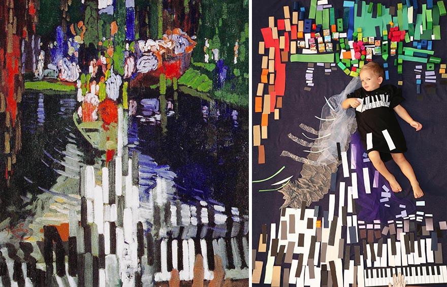 Франтишек Купка - «Клавиши фортепиано (Озеро)», 1905