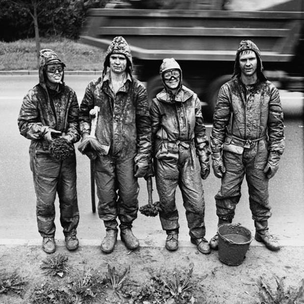 Студенты МЭИ в стройотряде.1980-е