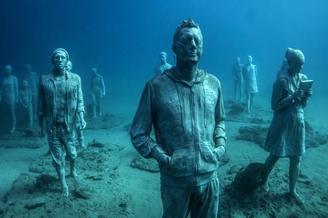 Впечатляющий подводный музей у берегов Лансароте, Испания