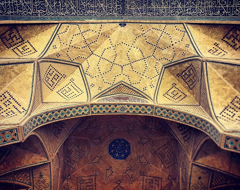 Потолки иранских мечетей.