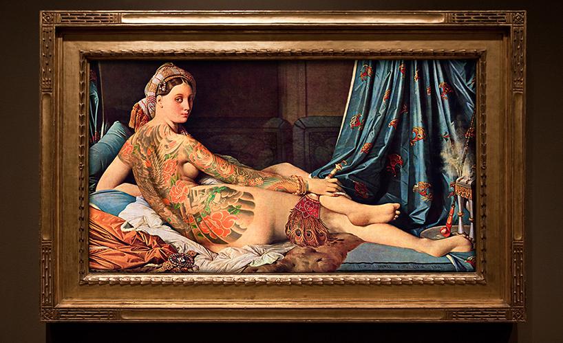 Персонажи известных картин с татуировками