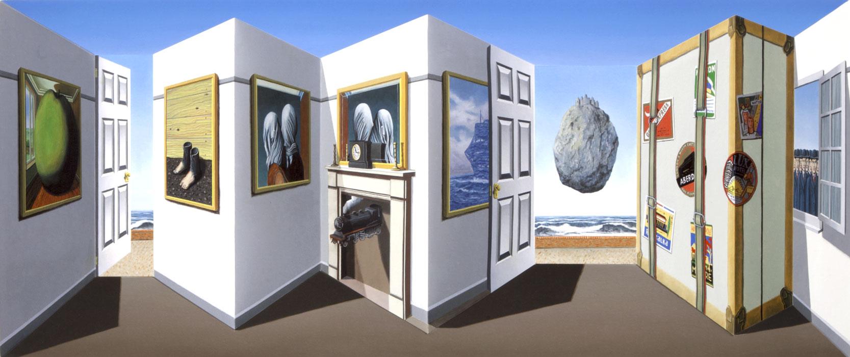 реверспективные картины, Патрик Хьюз, Patrick Hughes