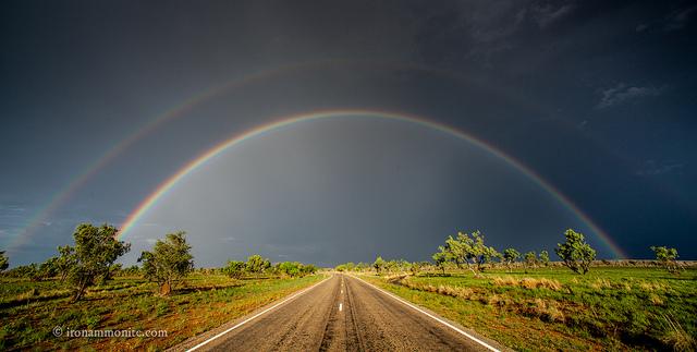 Фотографии двойной радуги