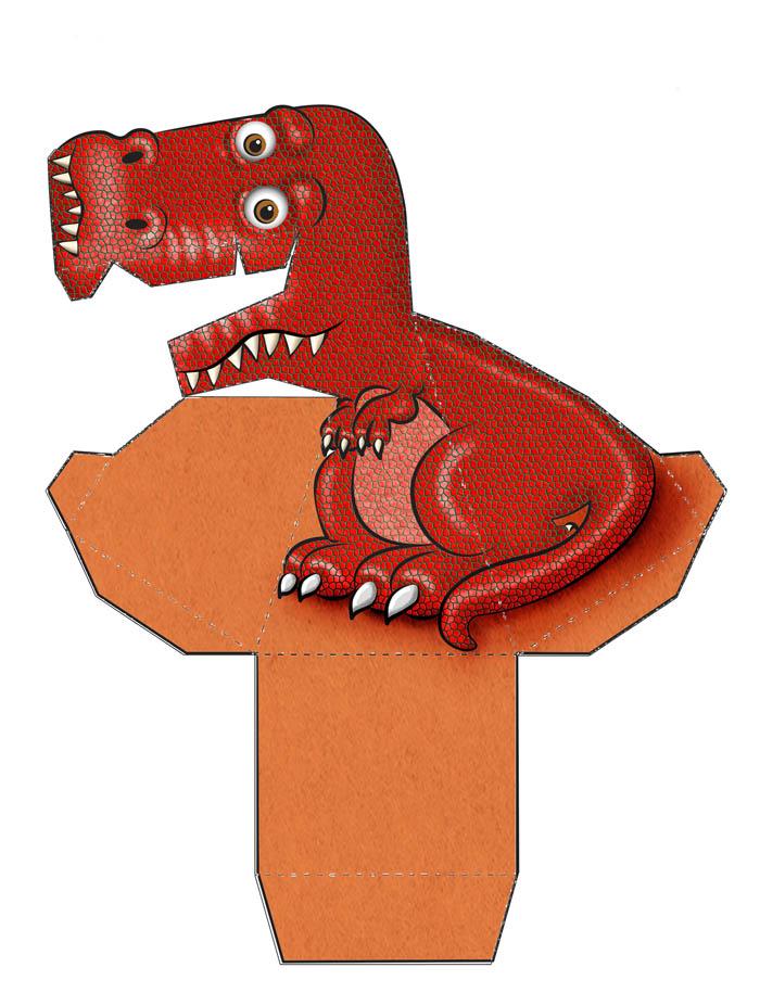 динозавр c иллюзией слежения