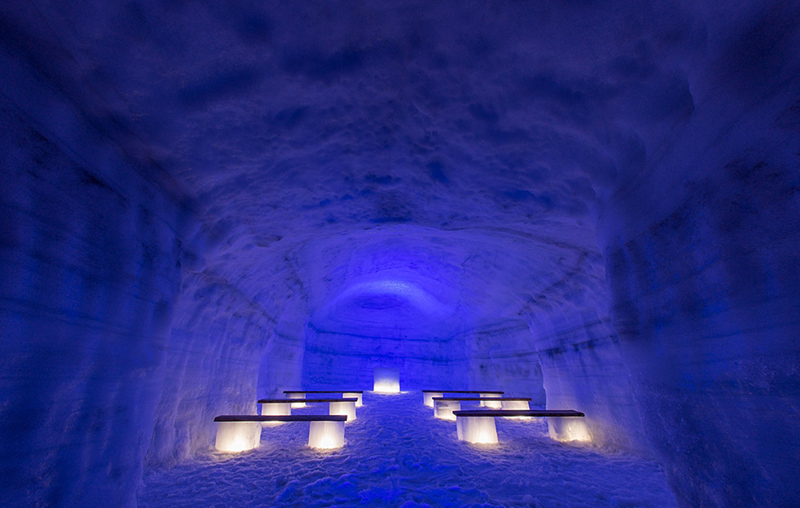 Крупнейший искусственный ледяной туннель