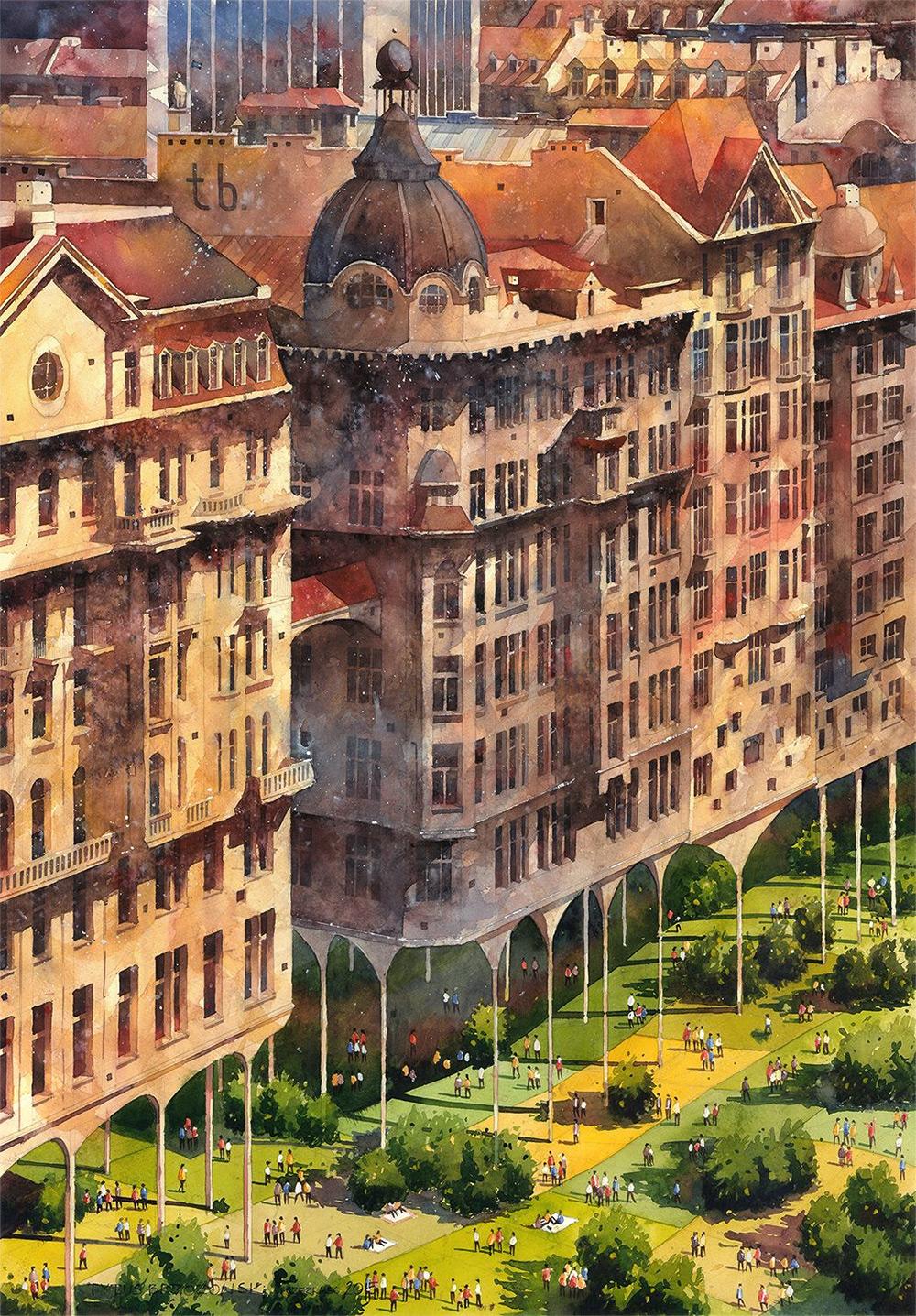 Архитектура Варшавы от Титуса Бжозовского