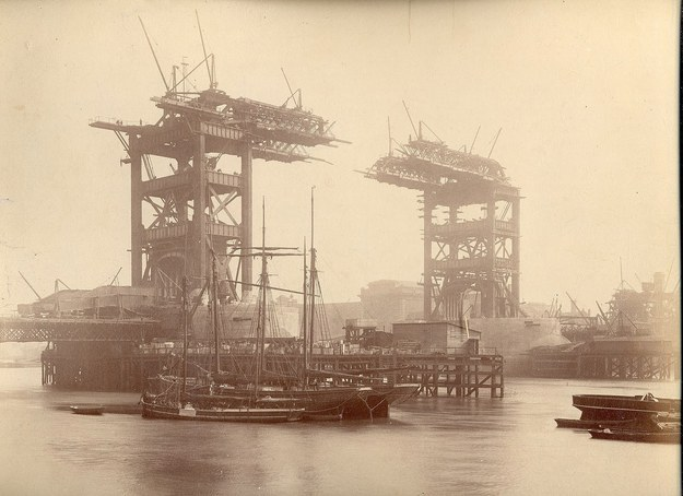 Тауэрский мост, Лондон, Англия 1892