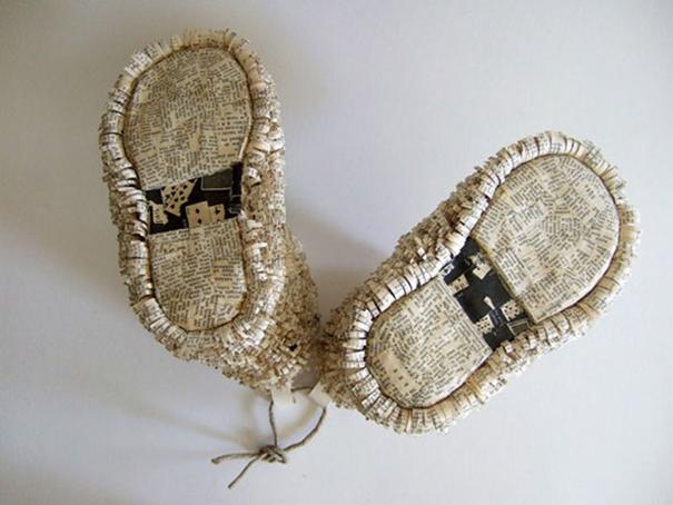 Работы из винтажных книг от Сесилии Леви