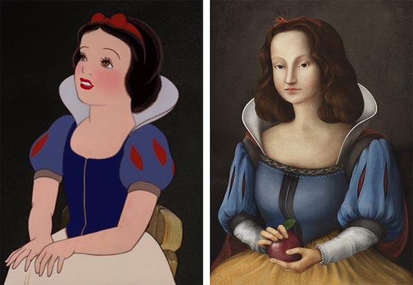 Диснеевские принцессы позируют для создания портретов эпохи Возрождения