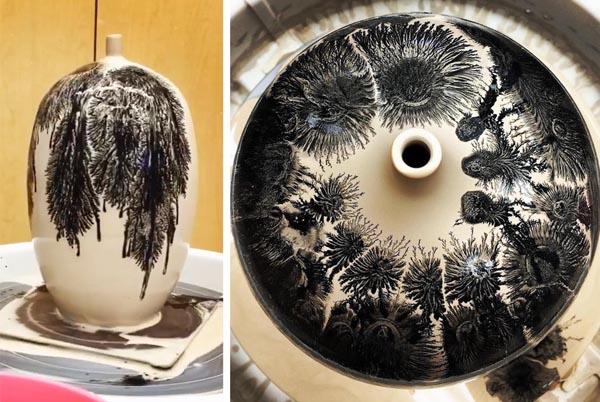 Завораживающая гончарная техника, формирующая орнаменты прямо на ваших глазах