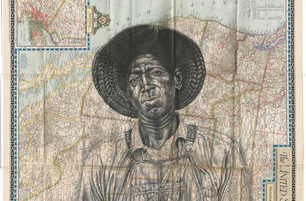 Завораживающие иллюстрации шариковой ручкой на старинных конвертах и картах