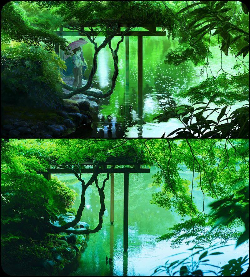 Сцена из аниме и реальность