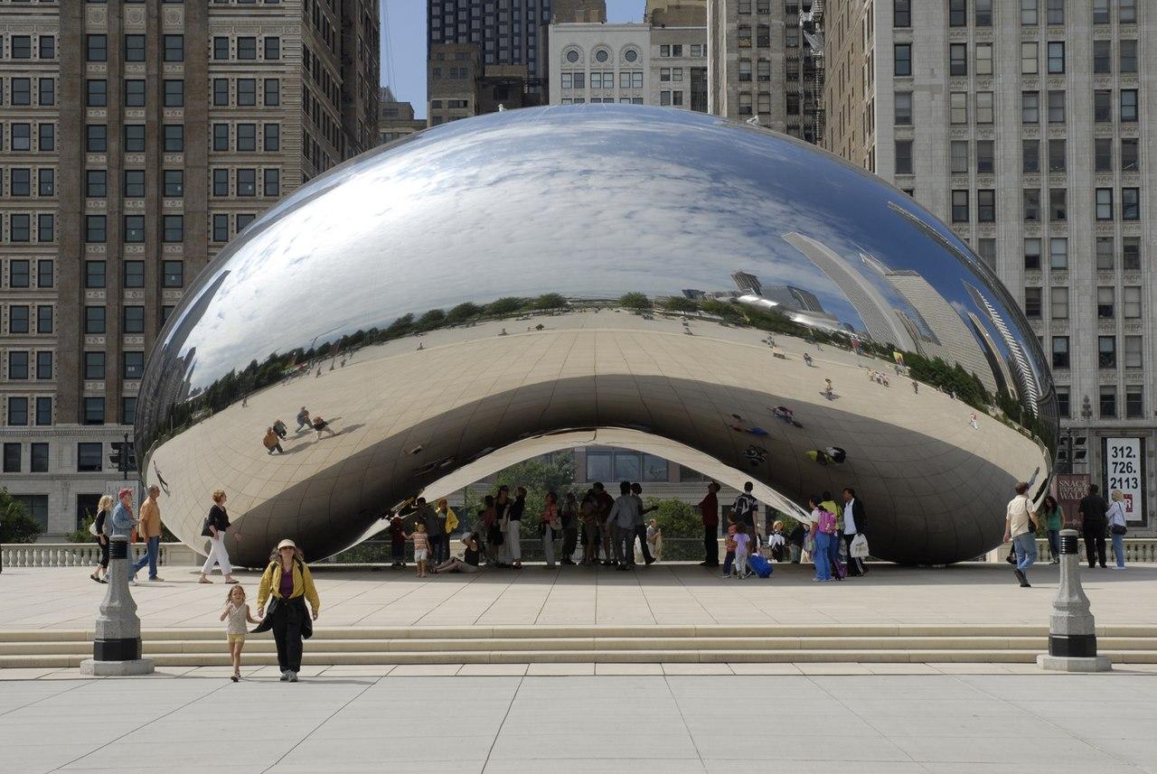 «Облачные врата» (Cloud Gate), Чикаго, США, 2004