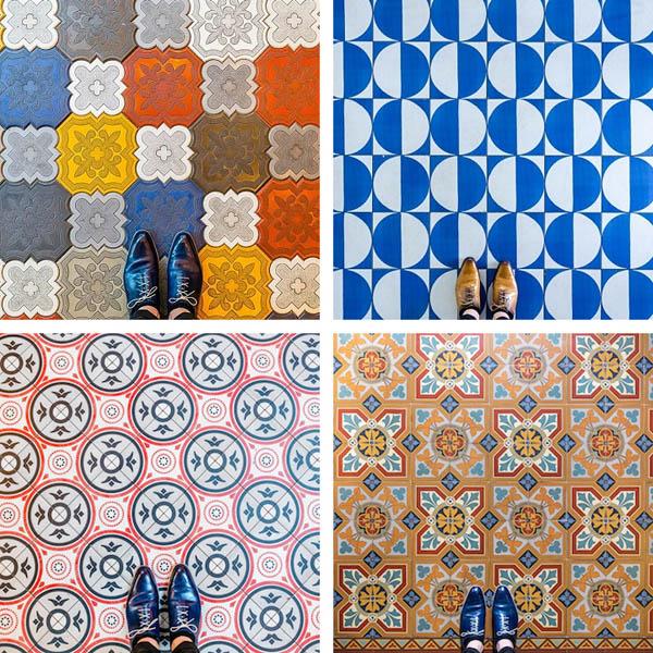 Красочные фотографии показывают уникальный дизайн полов Барселоны