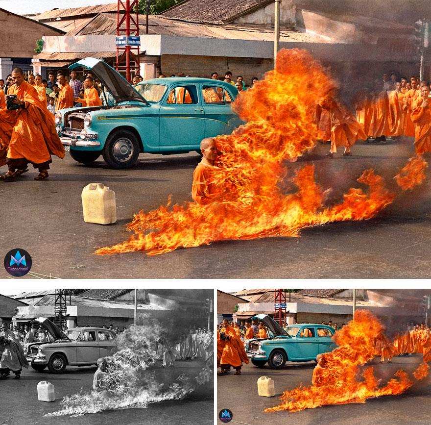 Самосожжение буддистского монаха