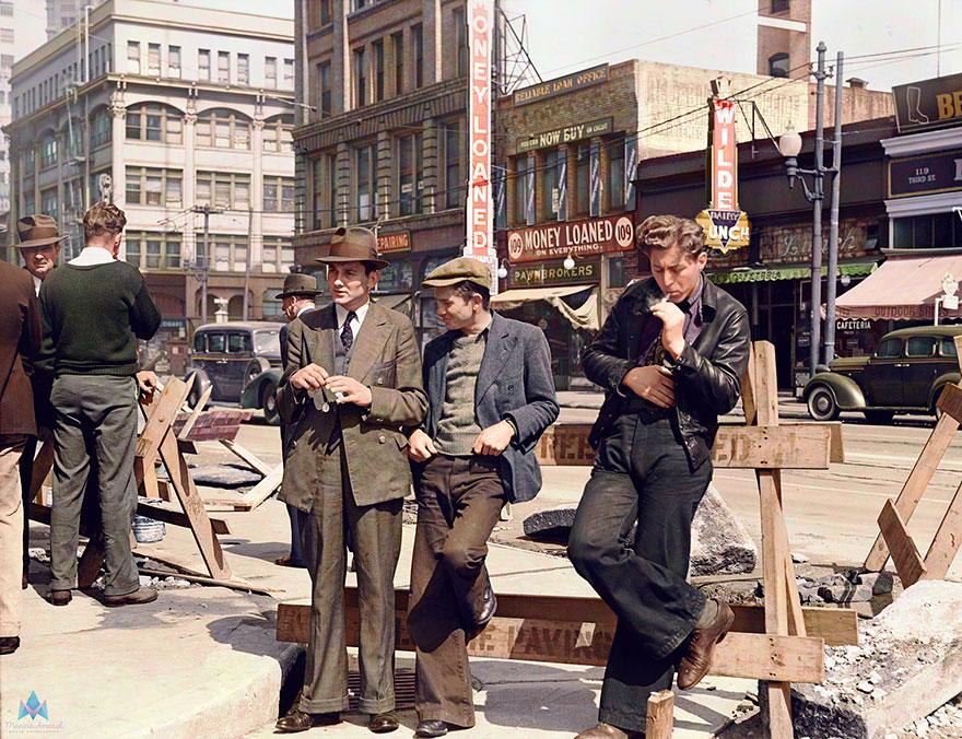 Безработные мужчины в Сан-Францискол