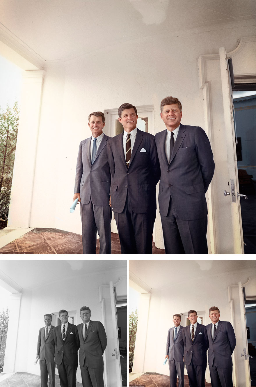 Братья Роберт Кеннеди, Эдвард «Тед» Кеннеди и Джон Ф. Кеннеди