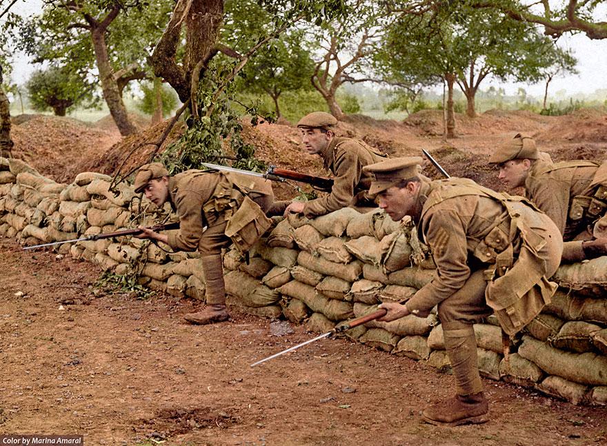 Британские солдаты во время Первой мировой войны, Франция