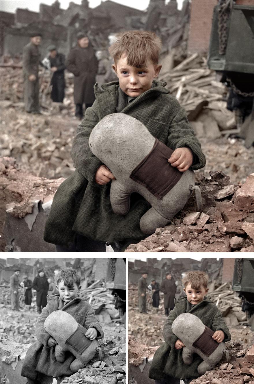 Английский сирота в Лондоне, 1945