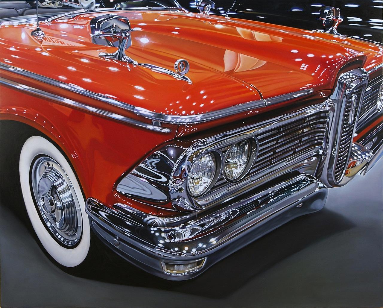 Гиперреалистичные картины автомобилей от Шерил Келли