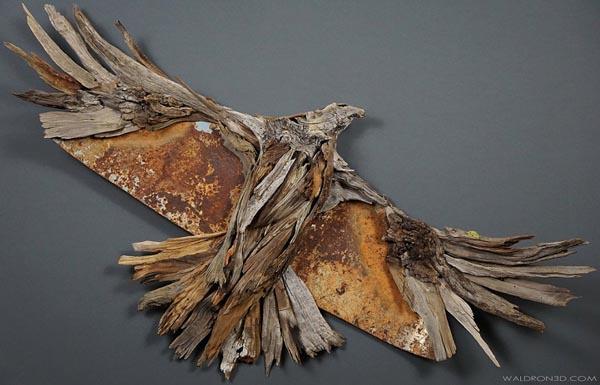 Неординарные скульптуры из дерева и металла от Джейсона Уолдрона