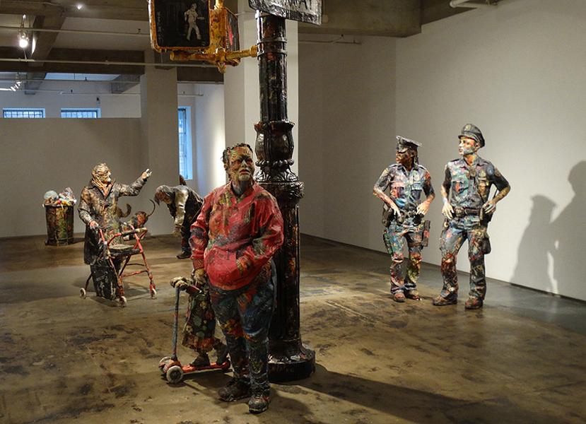 Скульптуры из газет от Уилла Курца (Will Kurz).