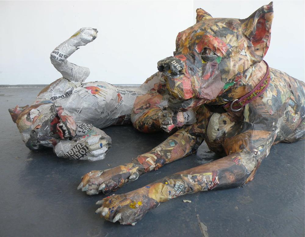 Скульптуры из газет от Уилла Курца