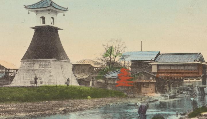 Высокий фонарь Сумиёши, Осака, 1907-1918
