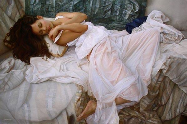 Гиперреалистичные картины маслом отмечают красоту женских форм