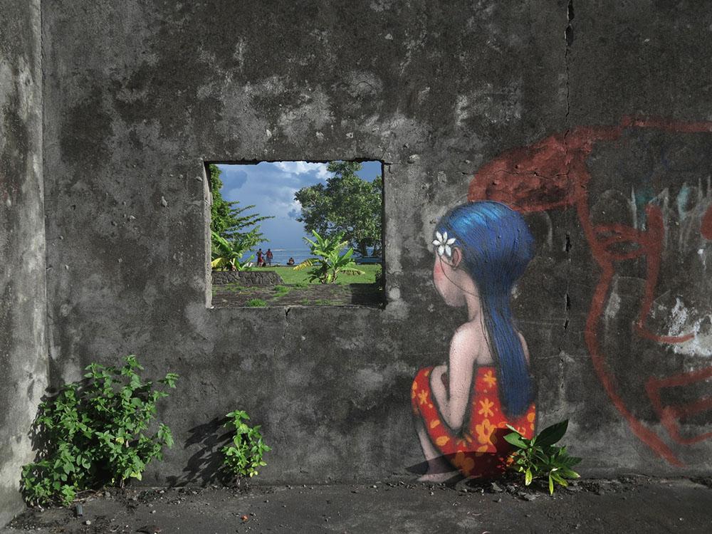 Стрит-арт с безликими фигурами от Сета