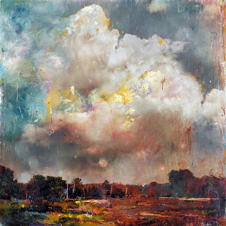 Стивен Холл комбинирует фотографии с живописью