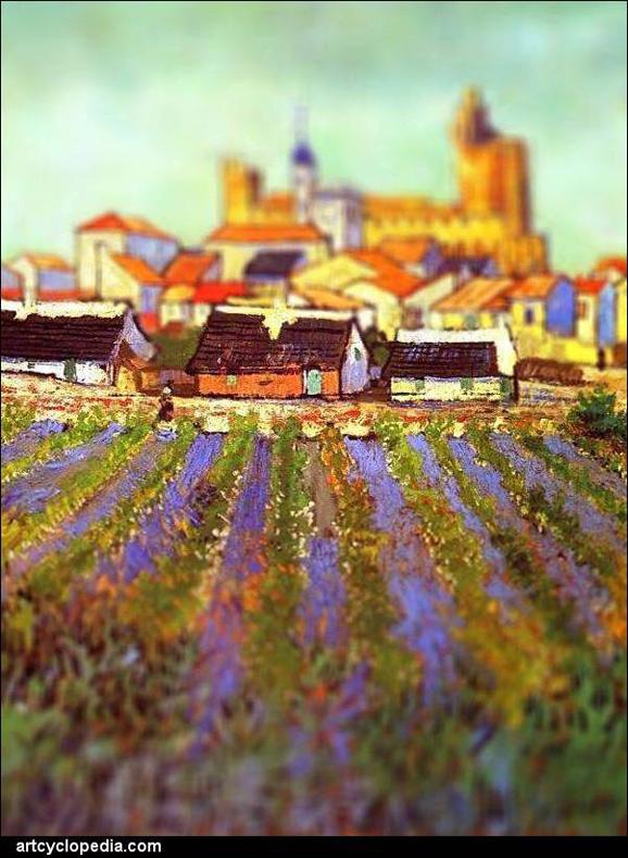 Tilt-shift эффект в картинах Ван Гога.