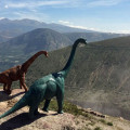PIC BY JORGE SAENZ / CATERS NEWS - (Pictured: Jorge Saenzs toy dinosaurs in Ecuador) These incredible images may look like a scene from The Land Before Time, but they are actually created using TOY DINOSAURS. Professional photographer Jorge Saenz began the inventive series as a fun side project to his regular job. On his travels, Jorge has snapped the dinosaurs in countries such as Argentina, Brazil, Chile, Peru and Paraguay. Some of the scenes, such as those atop of mist-covered mountain ranges, look as though they were taken 100 million years ago. - SEE CATERS COPY