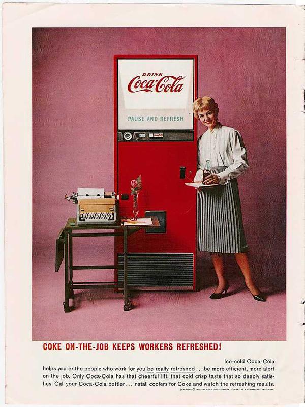 История рекламных плакатов Кока-Кола