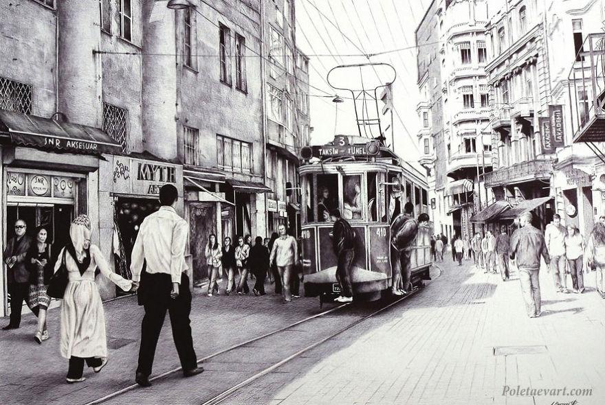 Картины шариковой ручкой от Андрея Полетаева