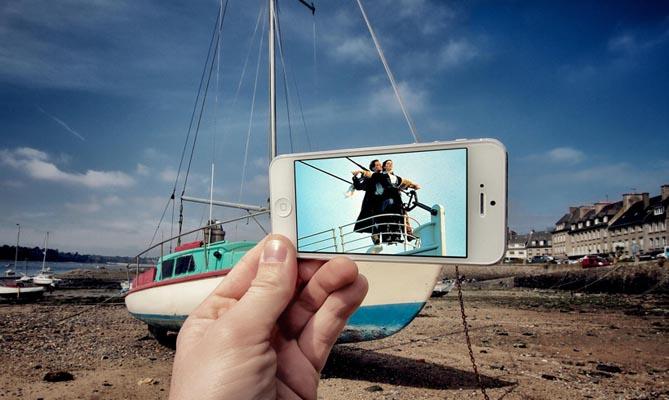 Сцены из фильмов в реальности от фотографа Франсуа Дурлена