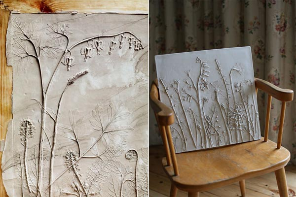 Окаменелости из повседневных вещей: гипсовые слепки растений от Рэйчел Дейн