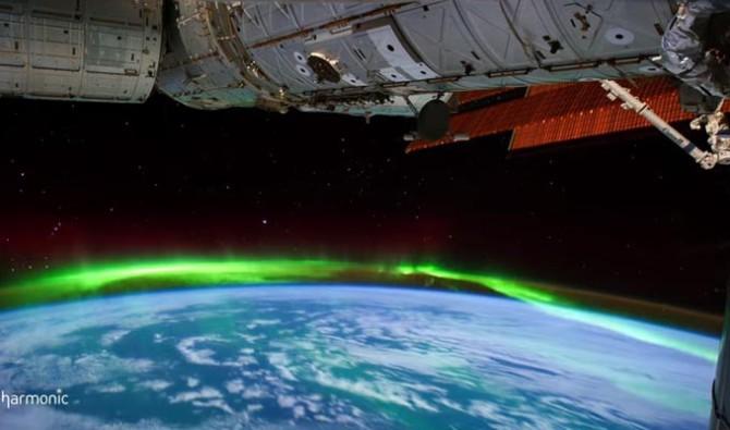 Вид на северное сияние из космоса в потрясающем видео от NASA